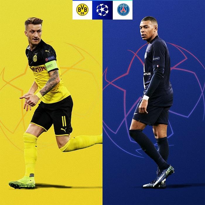 Cơ hội đi tiếp của các đội tại vòng 1/8 UEFA Champions League 2019/20 - Dortmund vs PSG