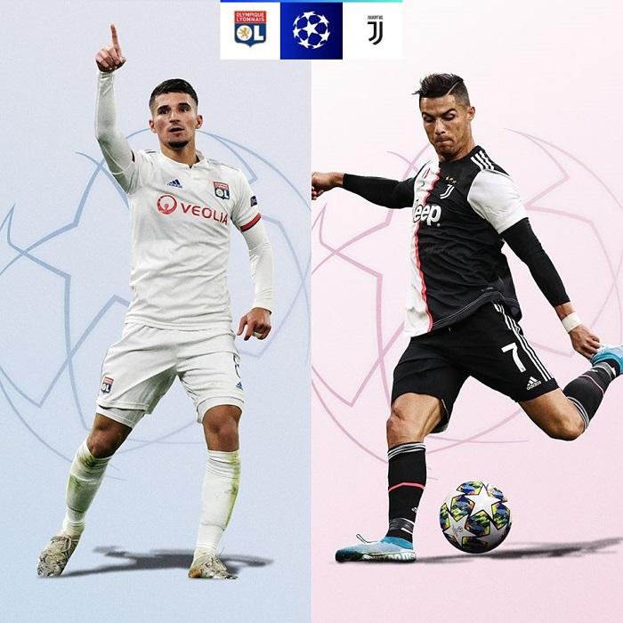 Cơ hội đi tiếp của các đội tại vòng 1/8 UEFA Champions League 2019/20 - Lyon vs Juventus