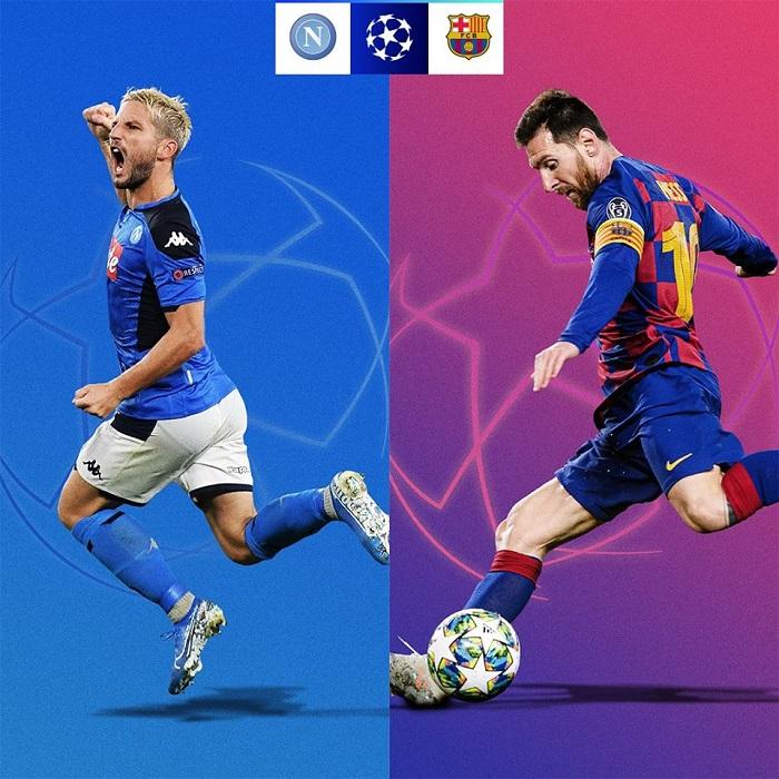 Cơ hội đi tiếp của các đội tại vòng 1/8 UEFA Champions League 2019/20 - Napoli vs Barca