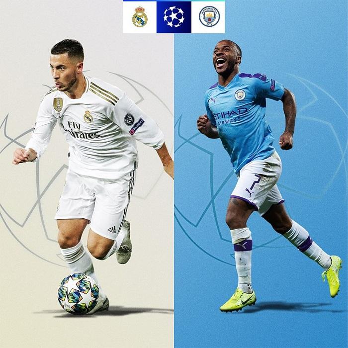 Cơ hội đi tiếp của các đội tại vòng 1/8 UEFA Champions League 2019/20 - Real Madrid vs Man City
