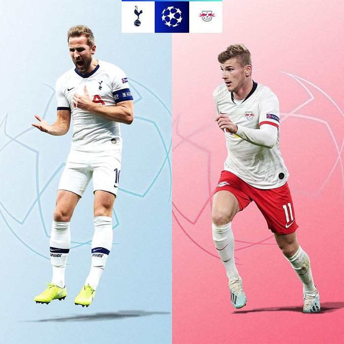 Cơ hội đi tiếp của các đội tại vòng 1/8 UEFA Champions League 2019/20 - Tottenham vs Leipzig