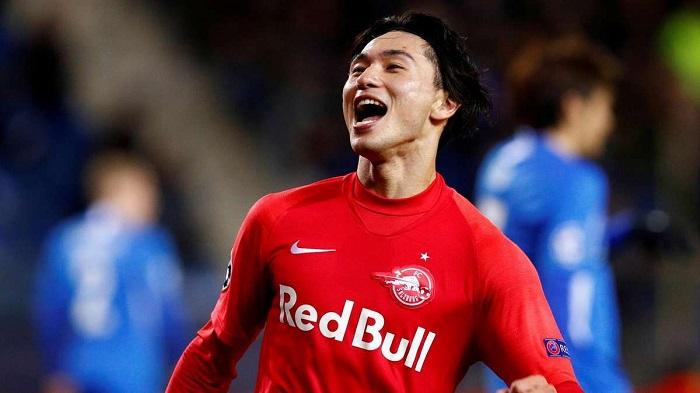 Cầu thủ người Nhật Bản thăng hoa trong màu áo Red Bull Salzburg