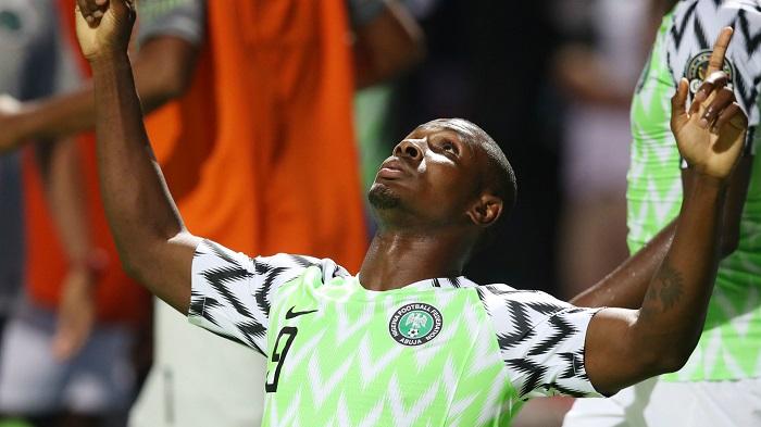 Ighalo trong màu áo đội tuyển vương quốc Nigeria