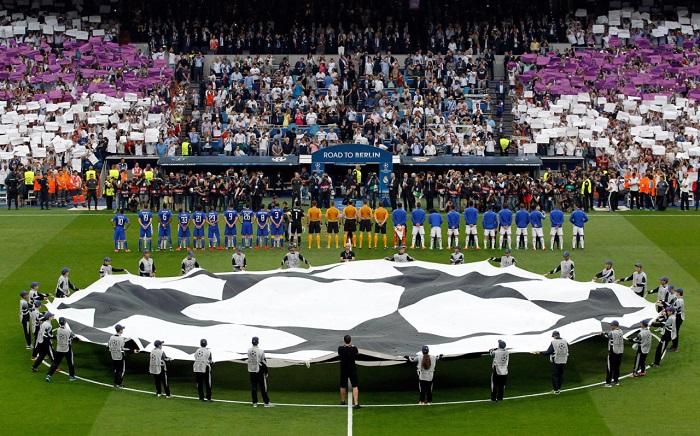 Nhạc hiệu Champions League được vang lên mỗi khi các trận đấu sắp bắt đầu