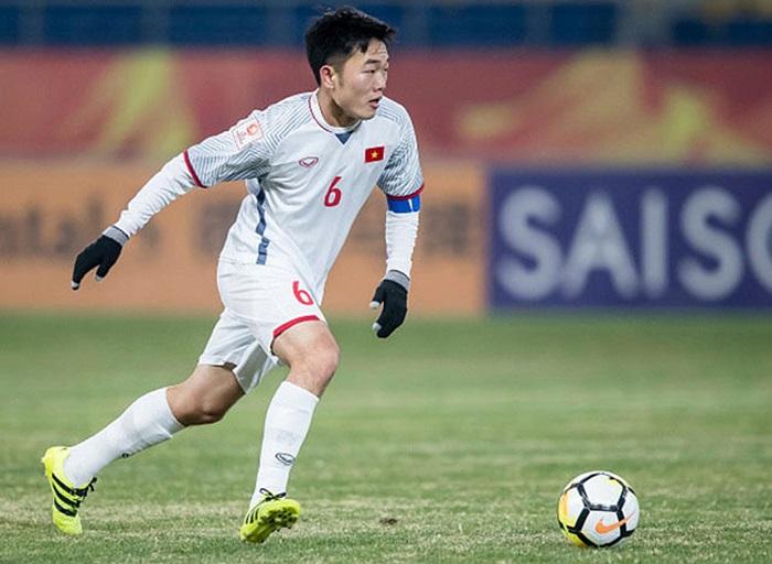 Cầu thủ Lương Xuân Trường trong màu áo ĐT Việt Nam