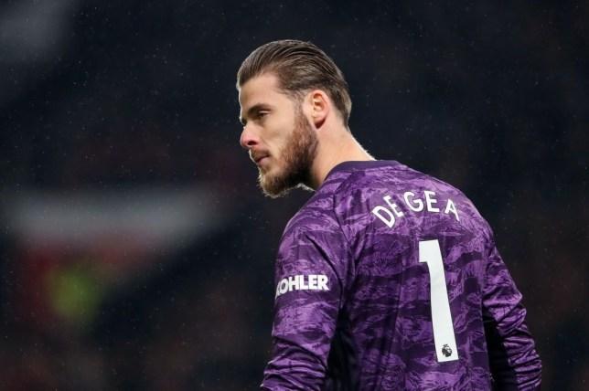 Thủ môn David de Gea trong màu áo Man Utd