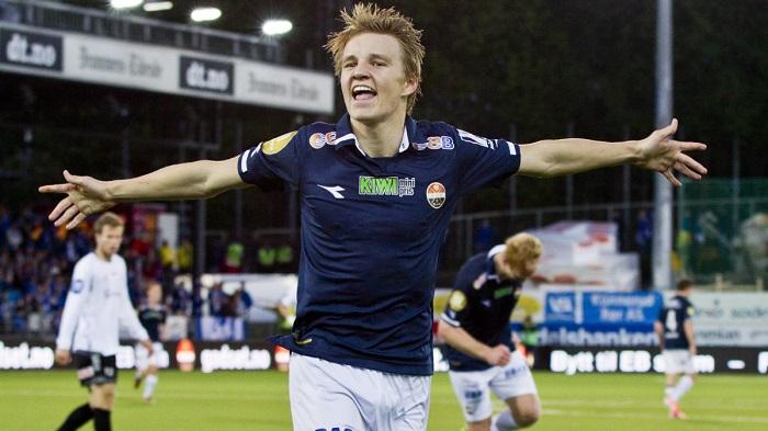 Martin Odegaard khi còn là cầu thủ tuổi teen