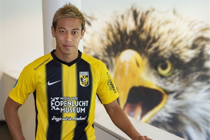 Keisuke Honda chơi cho Vitesse Arnhem vào thời điểm cuối sự nghiệp của tớ