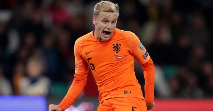 Donny van de Beek trong màu áo đội tuyển vương quốc Hà Lan