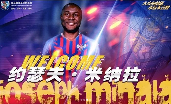 Joseph Minala chuyển sang khoác áo cho Qingdao Huanghai