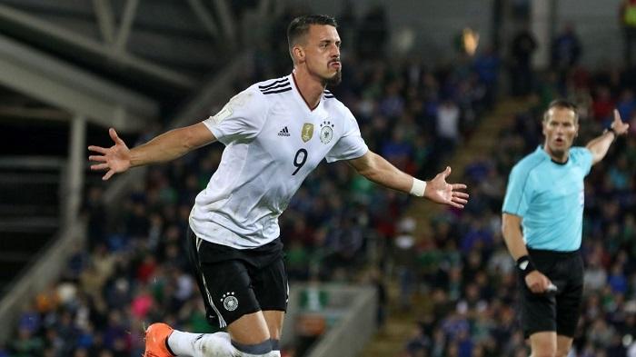 Sandro Wagner trong màu áo ĐT Đức