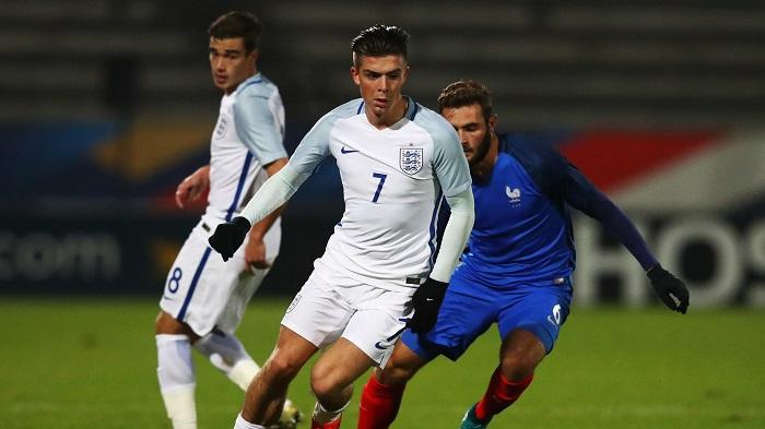 Jack Grealish trong màu áo U21 Anh